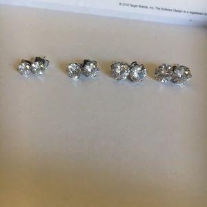Surgical Steel Silver Earrings